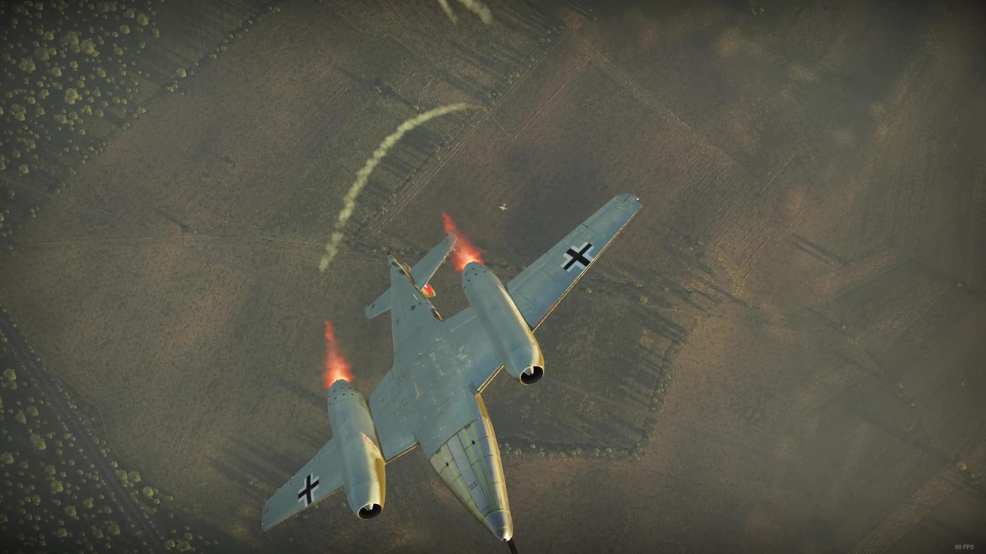 Warthunder, me-262, warthunder, WarThunder Me262A1U4 stall kill GIFs