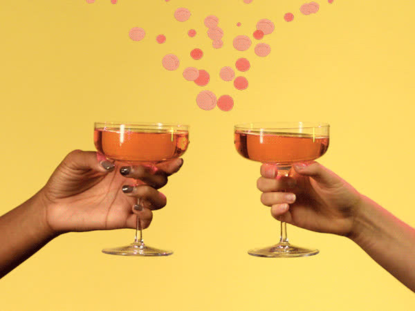celebrate, champagne, chandon, cheers, congrats, to us, toast, Cheers GIFs