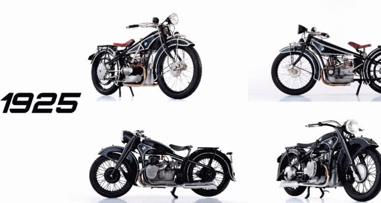 BMW Motorcycles Evolution GIFs