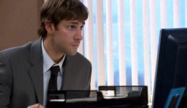 nervous, reationgif, theoffice, I'll just pretend I didn't hear that GIFs