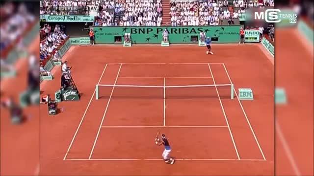 Watch Rafael Nadal vs Roger Federer GIF on Gfycat. Discover more 2006, Federer, Final, French, Nadal, Open, Rafael, Roger, tennis GIFs on Gfycat