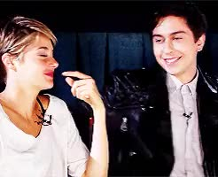 Watch and share Shailene Woodley GIFs and Nat Wolff GIFs on Gfycat