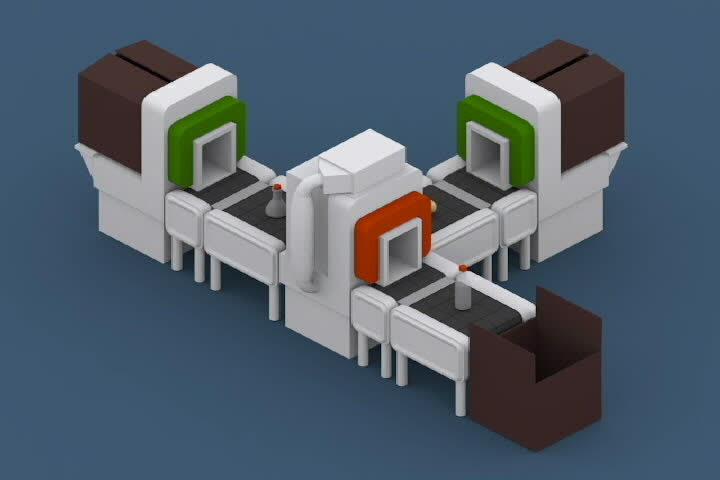 daily3d, isometric, perfectloops, Isometric Vodka Factory GIFs