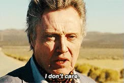 Watch and share Christopher Walken GIFs and I Don't Care GIFs on Gfycat