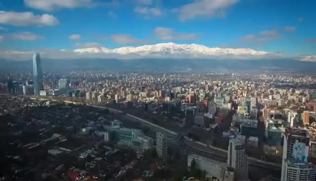 Watch SANTIAGO - CHILE. DJI Phantom 4 - Epic Drone Aerial Footage. Drone Flight Over The City in 4k. GIF on Gfycat. Discover more related GIFs on Gfycat