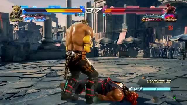 Akuma lose nuts Tekken PS4Share PlayStation 4, Sony Interactive Entertainment GIF
