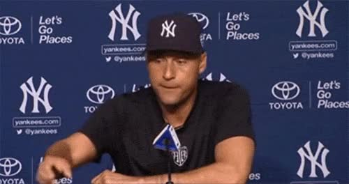 Watch Derek Jeter answers reporters phone GIF on Gfycat. Discover more related GIFs on Gfycat