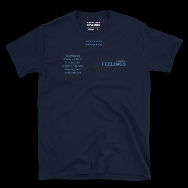 Watch and share Happiness T-shirt Navy GIFs on Gfycat