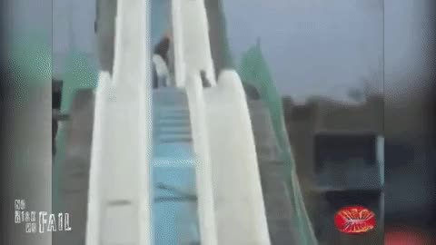 Watch 2 guys on an old water slide GIF by GlobalSweet (@superkozz) on Gfycat. Discover more whatcouldgowrong GIFs on Gfycat