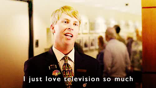 Watch Kenneth love television GIF on Gfycat. Discover more jack mcbrayer GIFs on Gfycat