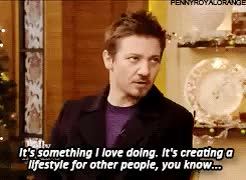 Watch and share Happy Holidays GIFs and Jeremy Renner GIFs on Gfycat