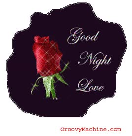 Watch and share Good Night Love Rose Glitter animated stickers on Gfycat