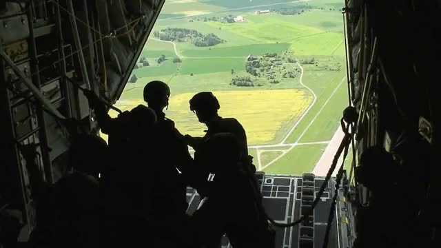 Watch and share Paratroopers Jump From A C-130 (reddit) GIFs on Gfycat