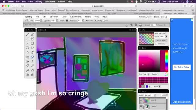 Watch room GIF by Rebekah (@love_fox) on Gfycat. Discover more art, rainbow GIFs on Gfycat