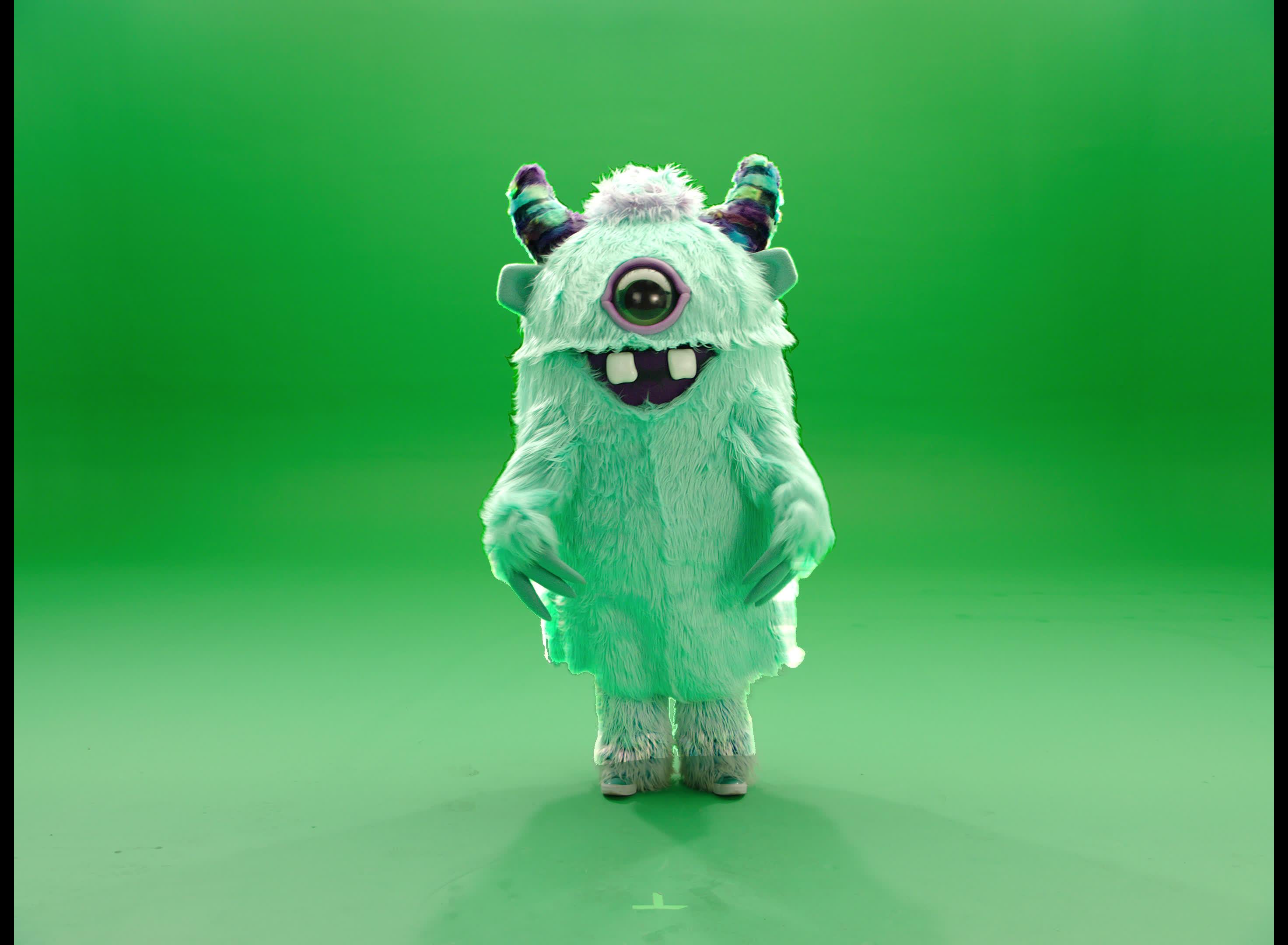 awww, cute, hi, masked singer, monster, pose, posing, running, the masked singer, the masked singer on fox, wave, Cute Monster GIFs