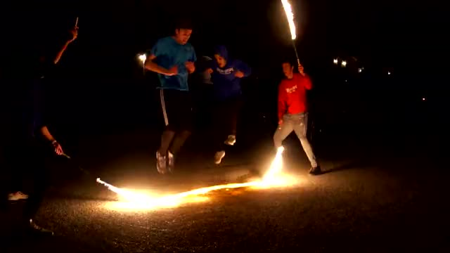 Watch and share Jump Rope On Fire GIFs and Crazy Stunt GIFs by Devin Meek on Gfycat