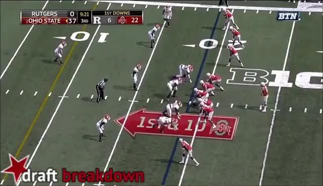 Ohio State OL vs Rutgers (2016) GIFs