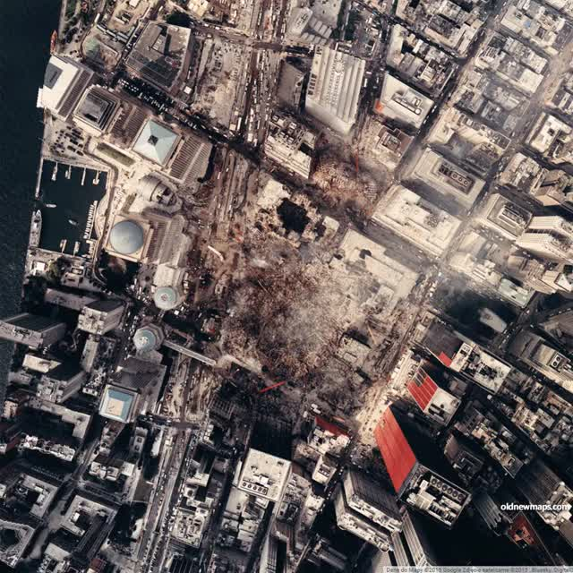 Watch and share The 11 September 2001 Attacks. New York. World Trade Center. [911x911] [GIF] : MapPorn GIFs on Gfycat