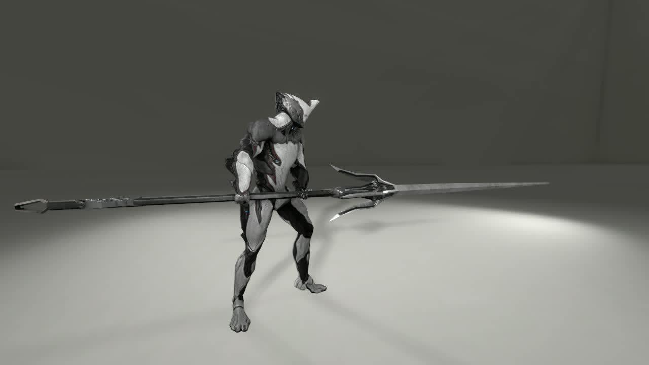 shittyama, warframe, Lance idle animation (reddit) GIFs