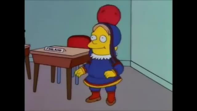 thesimpsons, Native Finland Dance GIFs