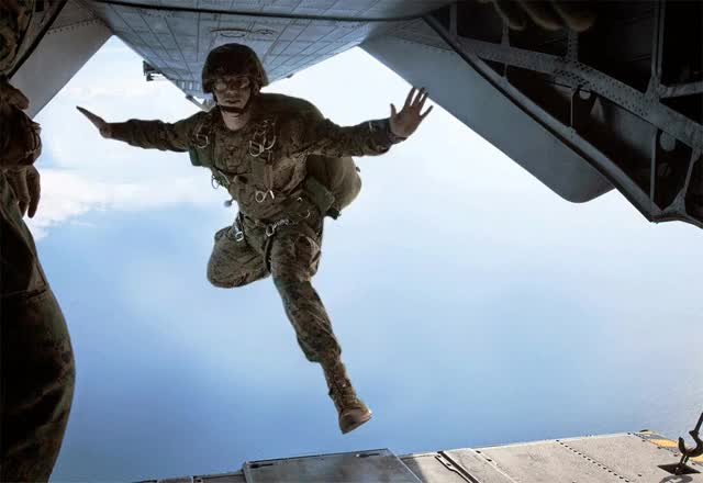 Watch and share A Marine Jumping From A Plane : Photoshopbattles GIFs on Gfycat