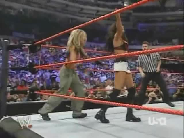wWE Raw 2005: When botching a elementary move becomes a plot.