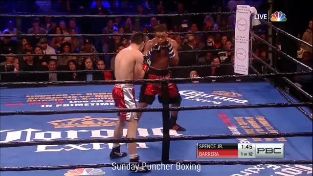Errol Spence Jr  stops Alejandro Barrera, leaving him with a