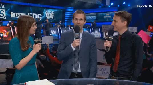Watch and share Sjokz Hears About The Other Casters' Couch Interactions : Leagueoflegends GIFs on Gfycat