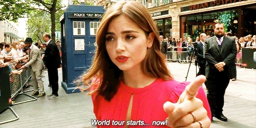 1k, dwcastedit, dwedit, edits: mine, gifs*, i won't survive this tour, jenna coleman, jenna louise coleman, jennacoleman*, she is so cute, whatever you say makes a 6 inch exit wound in you! GIFs