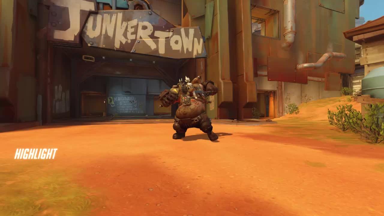 overwatch, roadhog, epic roadhog battles GIFs