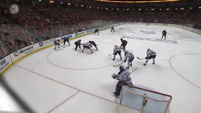 Watch and share Sekera Russell Game 1 Anaheim Goal Against GIFs by cultofhockey on Gfycat