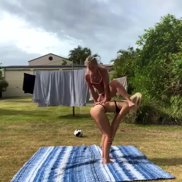 Watch Acro yoga GIF by RespectMyAuthoriteh (@respectmyauth) on Gfycat. Discover more related GIFs on Gfycat
