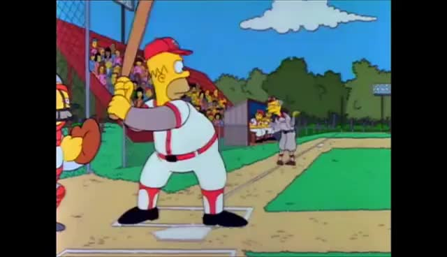 Watch and share Homer Simpson Baseball GIFs on Gfycat