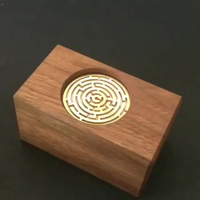 box, boxes, maze, mazerunner, mazes, puzzle, puzzlebox, wood, woodart, woodworking, Puzzle box by Kagen Sound @kagensound 😳😱. A completely GENIUS mechanism that leads to the box opening (if you can solve the maze). I'm alw GIFs