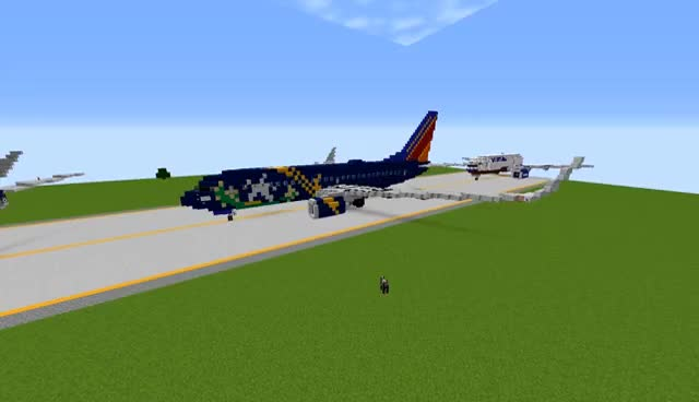 Watch and share Boeing 737NG + Liveries [DOWNLOAD] | Minecraft GIFs on Gfycat