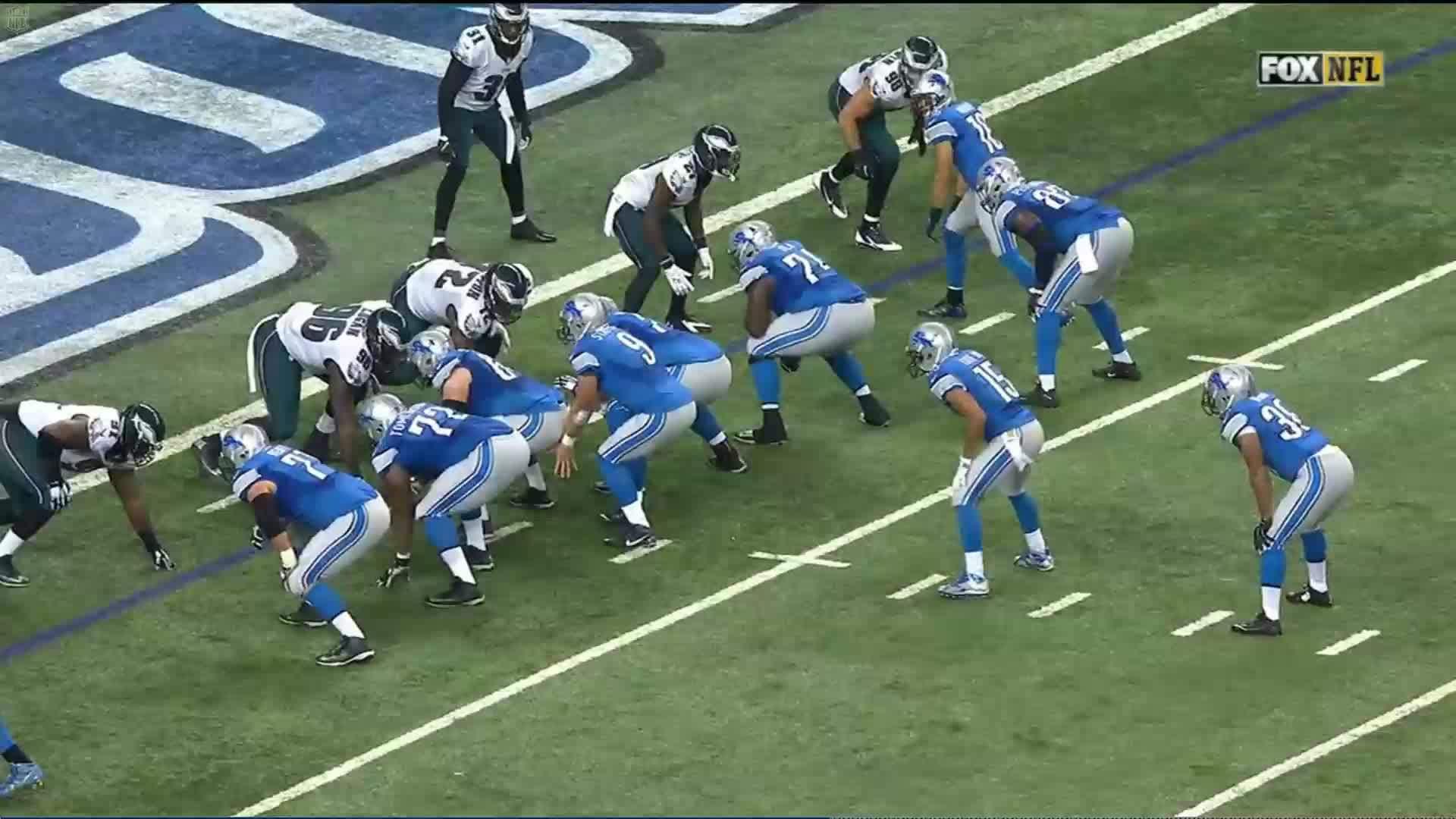 Detroit Lions, detroitlions, Golden Tate walk in Touchdown against Eagles GIFs