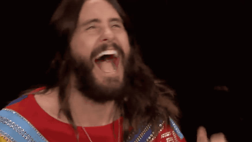 30, contest, cookie, excited, exciting, fallon, happy, jared, jimmy, leto, mars, seconds, show, smile, to, tonight, woohoo, yay, yeah, yes, Jared Leto - Yay GIFs