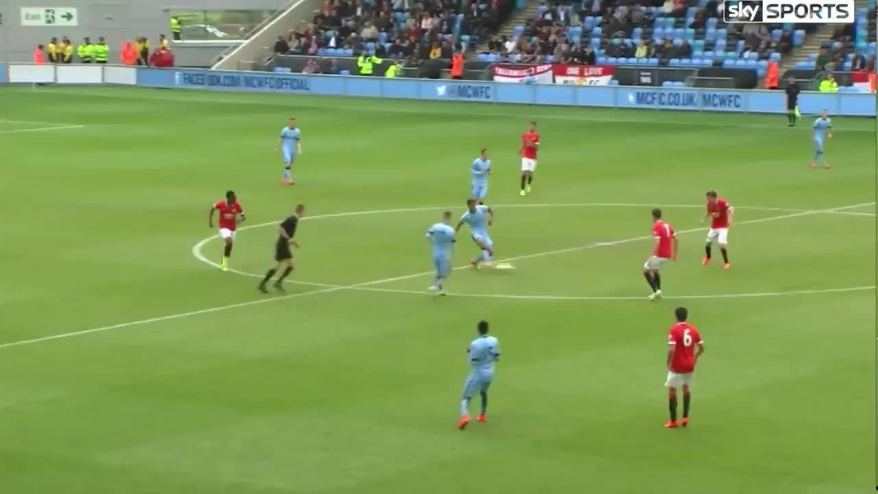 mcfc, soccer, Man City U21 striker Kelechi Iheanacho goal vs United U21s (reddit) GIFs