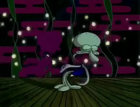 Watch and share Spongebob: Squidward Dancing Scene GIFs on Gfycat