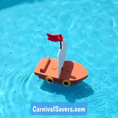 Watch and share Floating Boat GIFs and Toy Boat GIFs by Carnival Savers on Gfycat