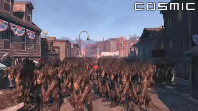 Watch and share FALLOUT 4 BATTLE #3 - 1000 Deathclaws VS. 100 Brotherhood Of Steel GIFs on Gfycat