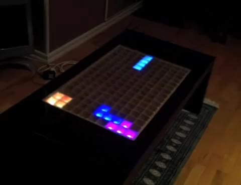 Watch and share Arduino LED Tetris Table GIFs on Gfycat