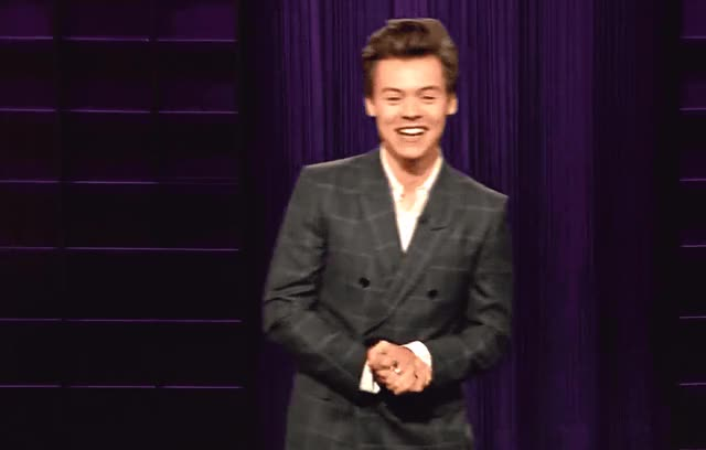 Watch this harry styles GIF by GIF Queen (@ioanna) on Gfycat. Discover more blush, corden, cute, flirty, harry, harry styles, hunk, i, james, late, made, myself, night, show, styles, sweet, that, up GIFs on Gfycat