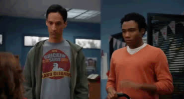 abed, community, danny pudi, donald glover, high five, troy, Troy and Abed High Five GIFs