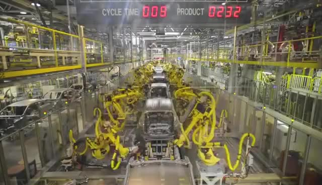 Watch and share Car Factory - Kia Sportage Factory Production Line GIFs on Gfycat