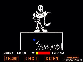 Watch and share [Undertale: Alternate Scene] An Actual Full Genocide Papyrus AU Battle. GIFs on Gfycat