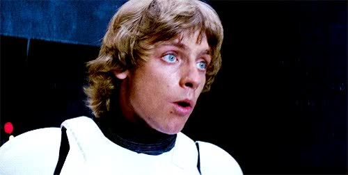 Watch and share Gif, Luke Skywalker, Star Wars, Mark Hamill GIFs on Gfycat