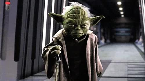 Watch and share Yoda, Star Wars, Light Saber, Dont Mess With Me, Trouble GIFs on Gfycat
