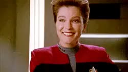 Watch and share An Epic Eyeroll Gif For You Ladies. I Am Drinking And Watching Voyager. Capt. Janeway Is Such A Badass. : TrollXChromosomes GIFs on Gfycat