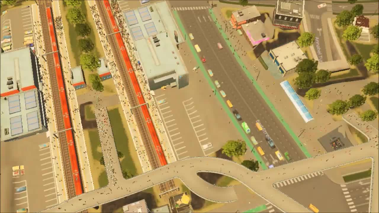 citiesskylines, Real men don't need no fancy train stations GIFs